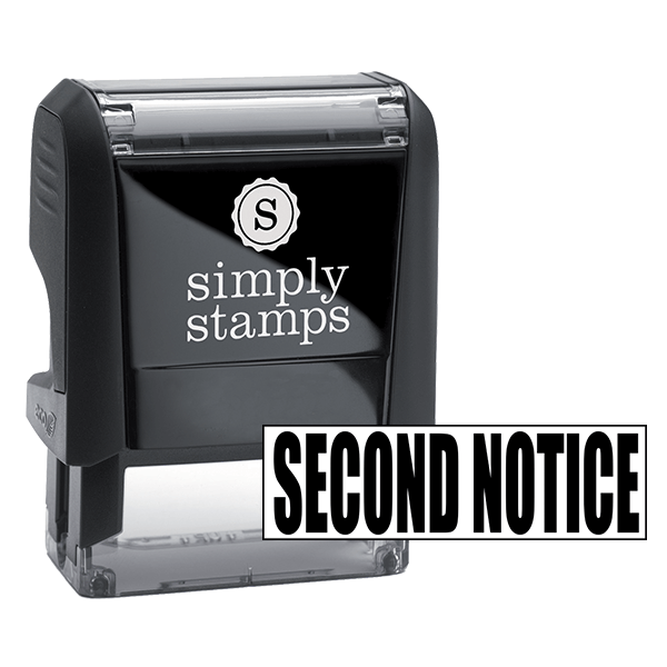 SECOND NOTICE Stock Stamp