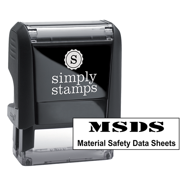 Material Safety Data Sheet Stamp