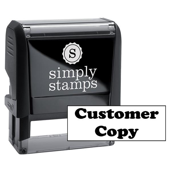 Customer Copy Office Stock Stamp