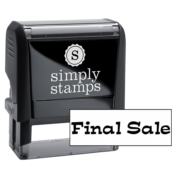 Final Sale Stock Stamp