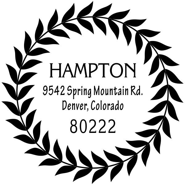 Hampton Leaf Wreath Address Stamp