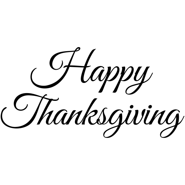 Happy Thanksgiving Craft Stamp