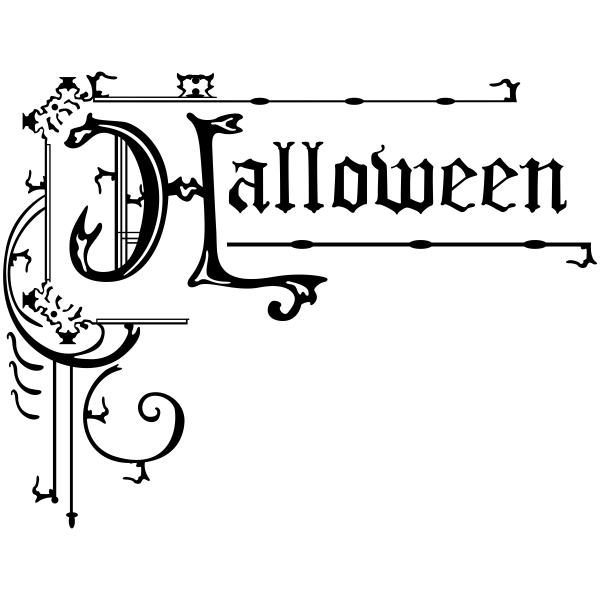 Halloween Ornamental Sign Craft Stamp