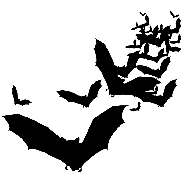 Lots of Flying Bats Craft Stamp