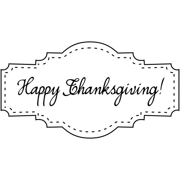 Happy Thanksgiving! Stitched Craft Stamp