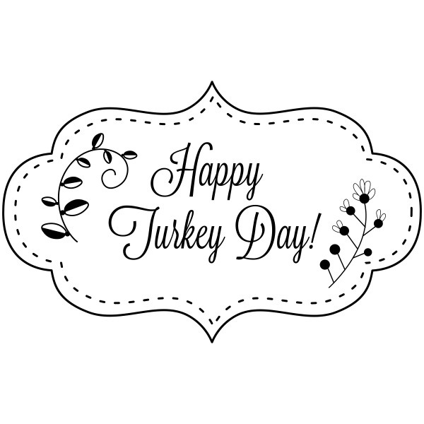 Happy Turkey Day! Stitched Craft Stamp