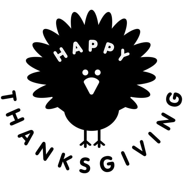 Happy Thanksgiving Turkey Craft Stamp