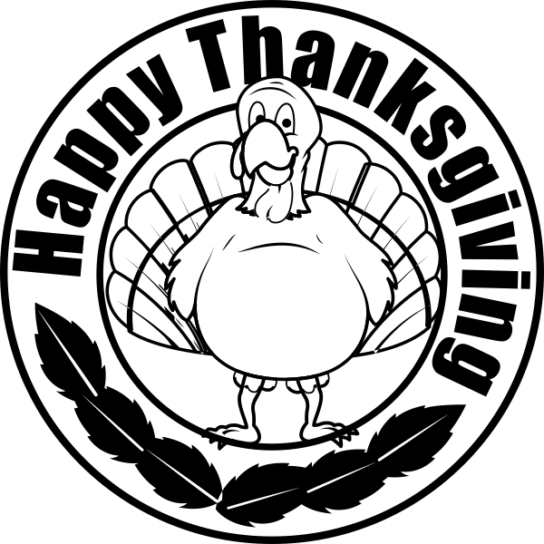 Happy Thanksgiving Gobbler Craft Stamp