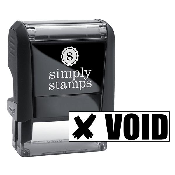 VOID X Stock Stamp