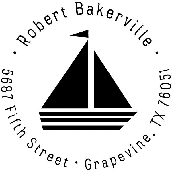 Sailboat Return Address Stamp