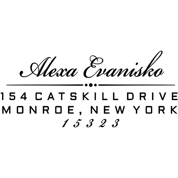 Alexa Return Address Stamp