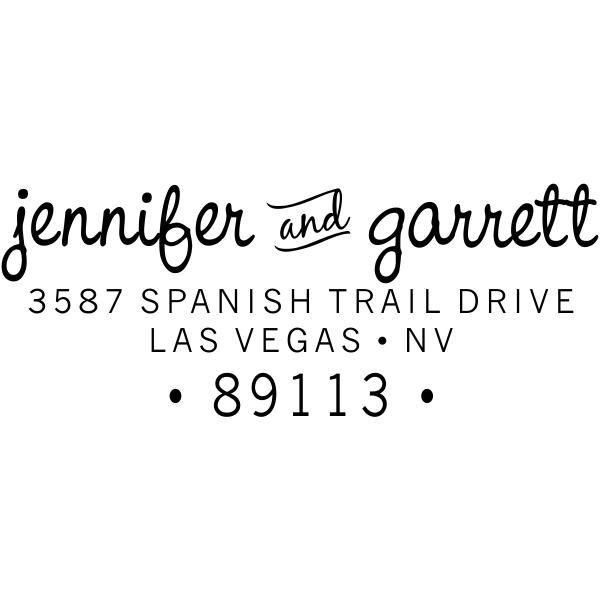 Self Inking Wedding Address Stamp Personalized Couple Script  Return Address Stamp Save the Date Address Stamp