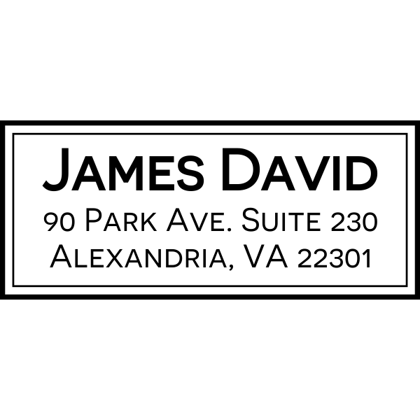 Alexandria Classic Address Stamp