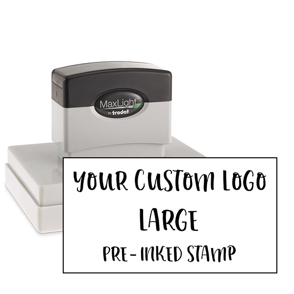 Your Large Logo Custom Pre-inked Stamp