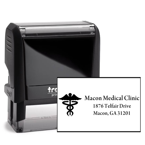 Caduceus Medical Address Stamp