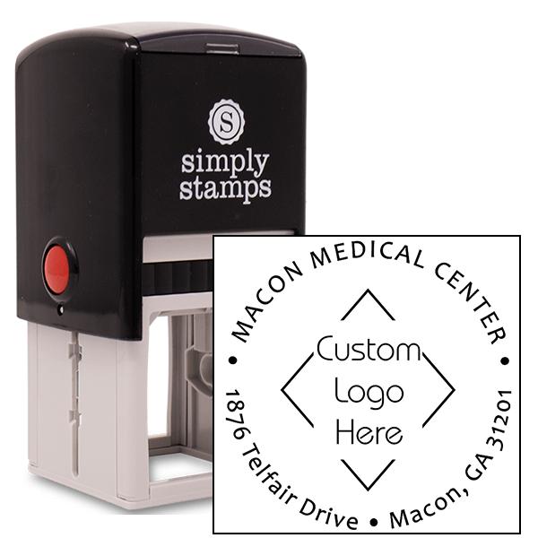 Custom Round Medical Logo Address Stamp