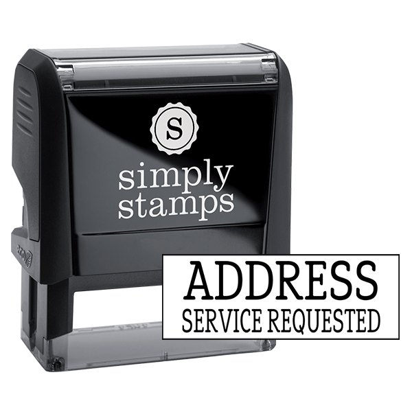 Address Service Requested Stock Stamp