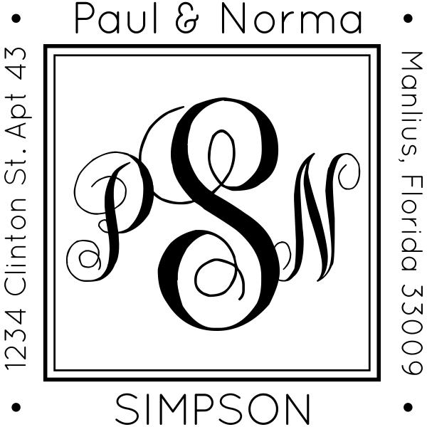 Simpson Square Address Stamp