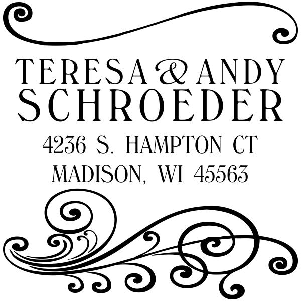 Madison Square Address Stamp