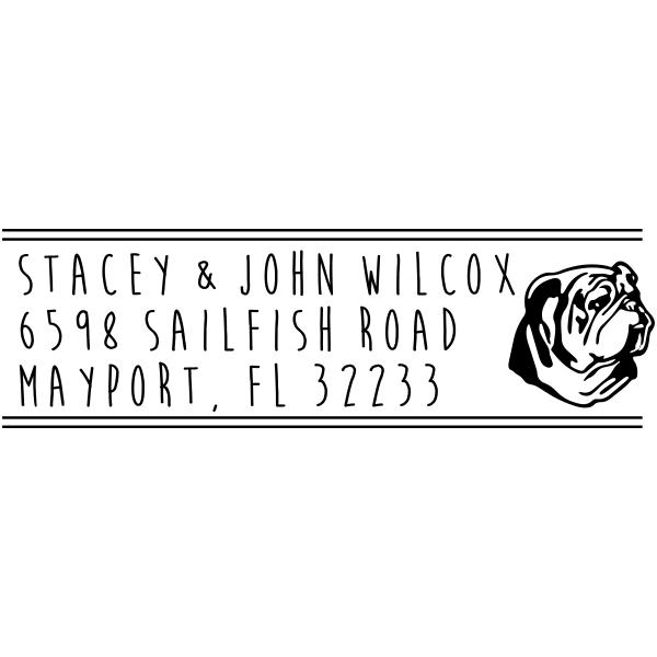 Bulldog Address Stamp
