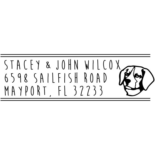 Beagle Address Stamp