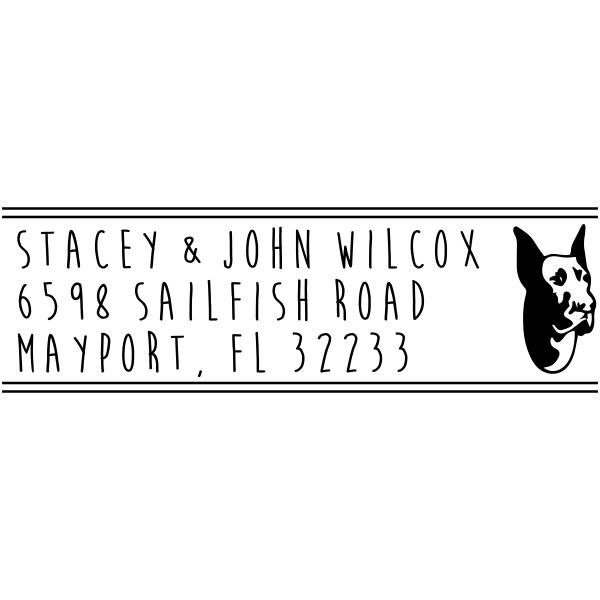 Great Dane Dog Address Stamp