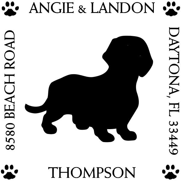 Dachshund Pet Lover Return Address Stamp