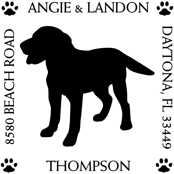 Labrador Retriever Pet Lover Dog Address Stamp