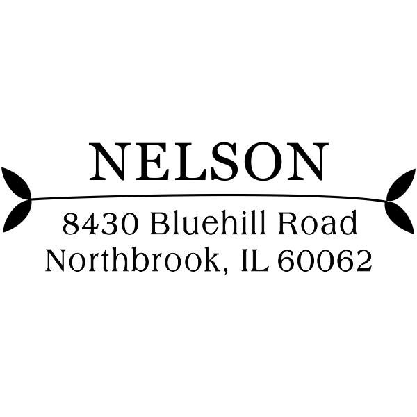 Nelson Leafy Ends Address Stamp