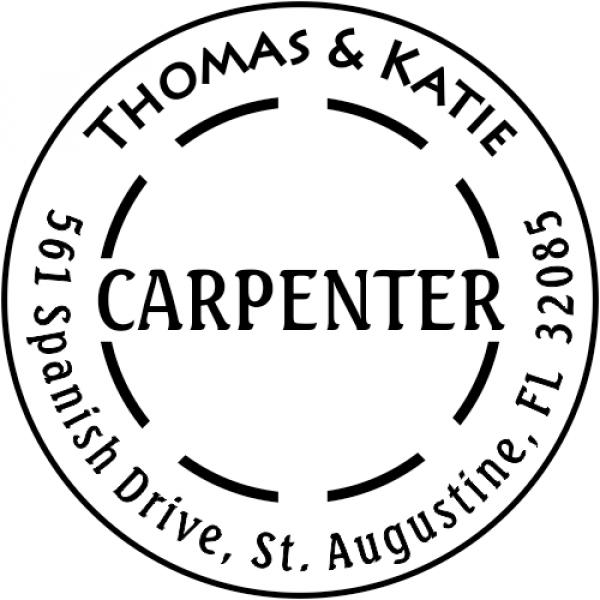 Carpenter Dash Custom Address Stamper