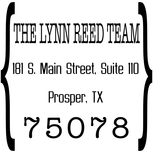 Quote Square Return Address Stamp