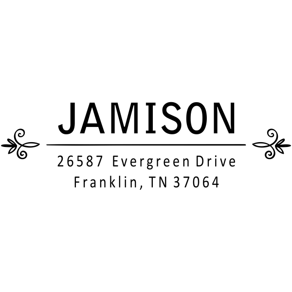 Jamison Florette Divide Address Stamp
