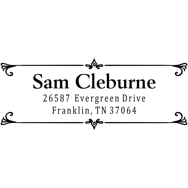 Cleburn Flip Deco Return Address Stamp