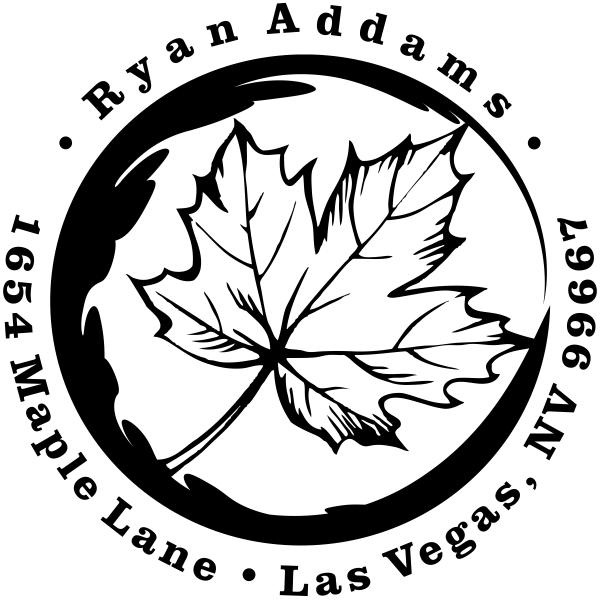 Fall Maple Leaf Custom Address Stamp