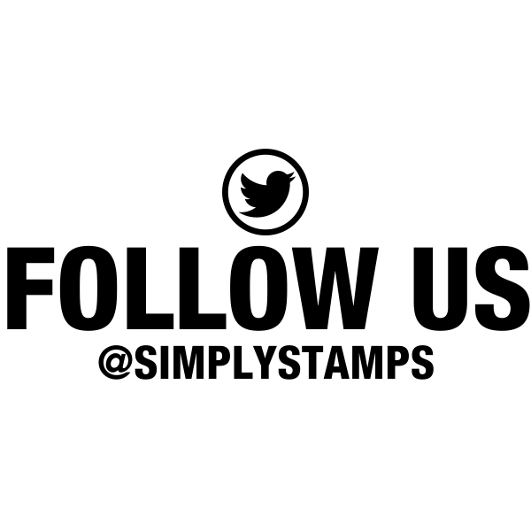 Follow Us On Twitter Handle Stamp
