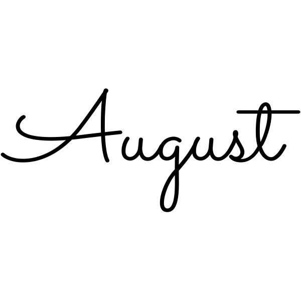 August Journal Stamp