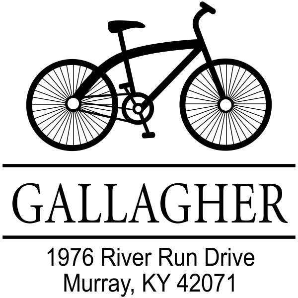Gallagher Bicycle Return Address Stamp