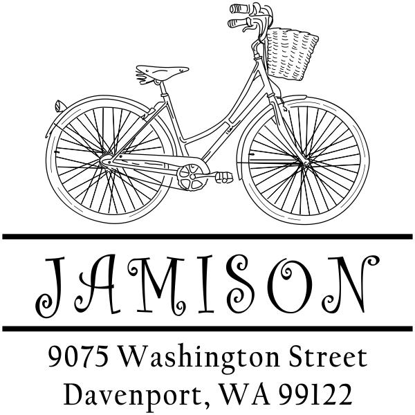 Jamison Bicycle Basket Address Stamp