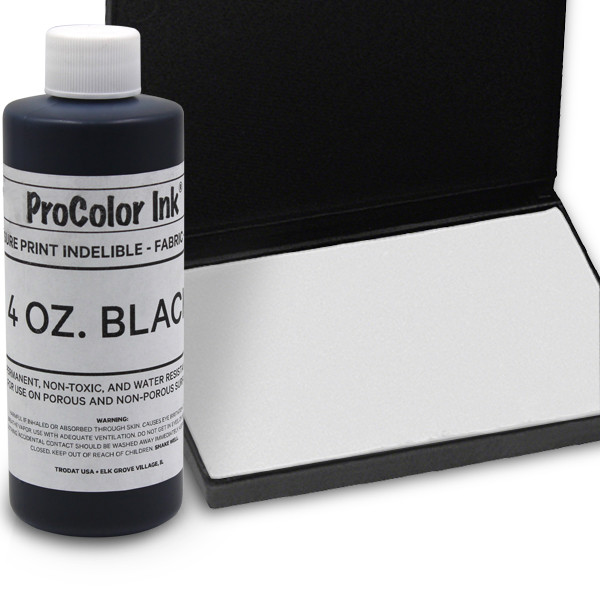 Black 4oz SuperMarking Ink w/ Medium Pad