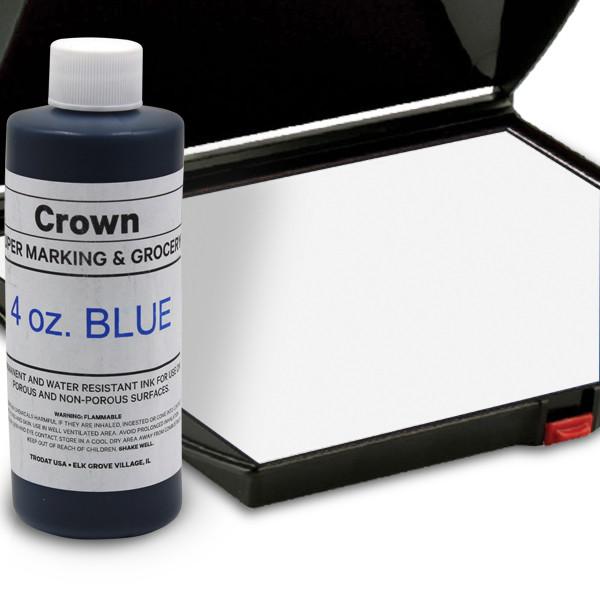 Blue 4oz SuperMarking Ink w/ Large Pad
