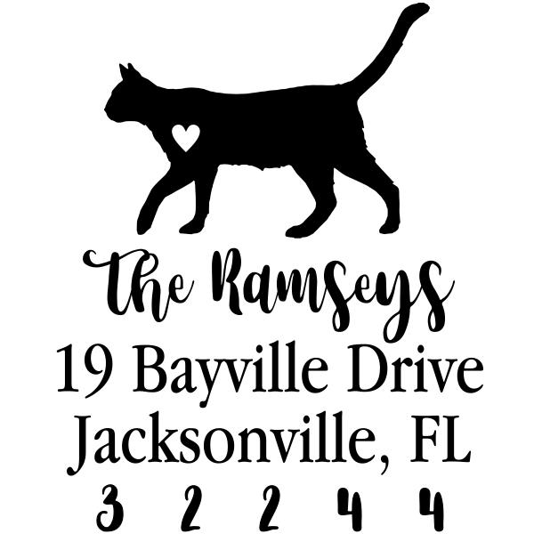 Cat Love Address Stamp