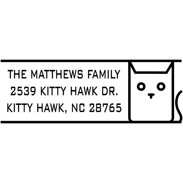 Block Cat Address Stamp