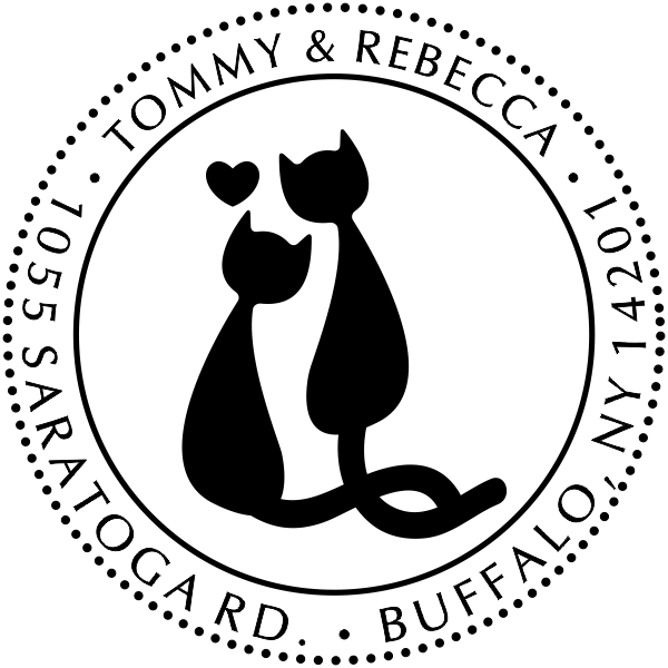 Cat Mates Address Stamp