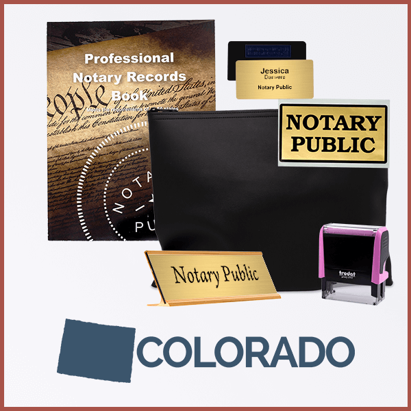 Colorado Pink Deluxe Notary Kit