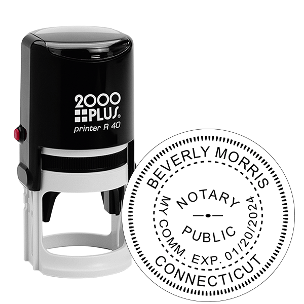 Connecticut Notary Round Stamp