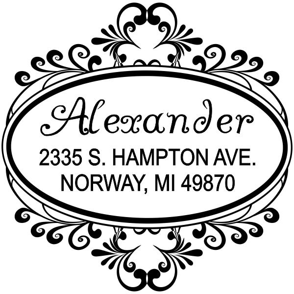 custom square rubber address stamp