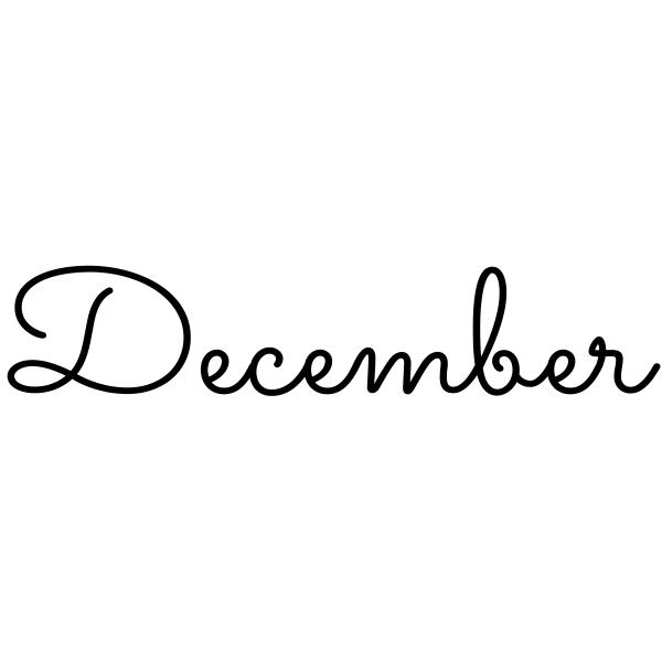 December Journal Stamp