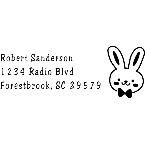 Bunny Head Easter Address Stamp