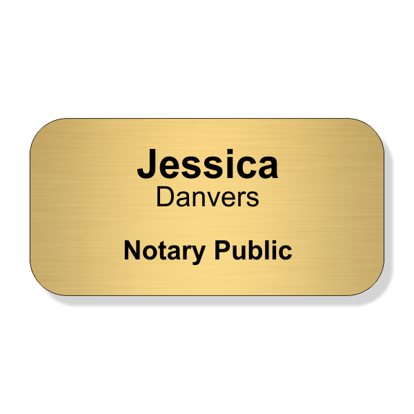 Engraved Notary Name Tag