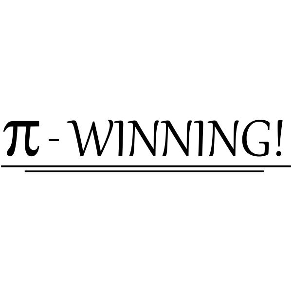Feedback - WINNING! Pi Symbol Rubber Teacher Stamp